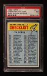 1966 Topps #517 W  Checklist 7 Front Thumbnail