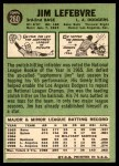 1967 Topps #260  Jim LeFebvre  Back Thumbnail