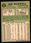1967 Topps #44  Joe Nuxhall  Back Thumbnail