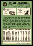 1967 Topps #140  Willie Stargell  Back Thumbnail