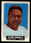 1964 Topps #136  Clem Daniels  Front Thumbnail