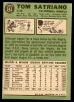 1967 Topps #343  Tom Satriano  Back Thumbnail
