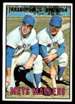 1967 Topps #186   -  Ed Kranepool / Ron Swoboda Mets Maulers Front Thumbnail