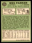 1967 Topps #218  Wes Parker  Back Thumbnail