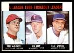 1967 Topps #237   -  Jim Kaat / Sam McDowell / Earl Wilson AL Strikeout Leaders Front Thumbnail