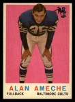 1959 Topps #30  Alan Ameche  Front Thumbnail