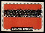 1964 Topps #153   Oakland Raiders Team Front Thumbnail