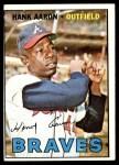 1967 Topps #250  Hank Aaron  Front Thumbnail