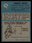 1964 Philadelphia #73  Forrest Gregg  Back Thumbnail