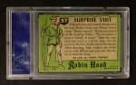 1957 Topps Robin Hood #57   Suprise Visit Back Thumbnail
