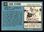 1964 Topps #62  Don Donnie Stone  Back Thumbnail
