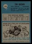 1964 Philadelphia #129  Tim Brown   Back Thumbnail