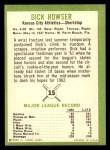 1963 Fleer #15  Dick Howser  Back Thumbnail
