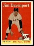 1958 Topps #413  Jim Davenport  Front Thumbnail