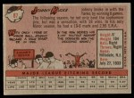 1958 Topps #87  Johnny Kucks  Back Thumbnail