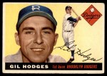 1955 Topps #187  Gil Hodges  Front Thumbnail