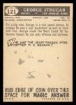 1959 Topps #121  George Strugar  Back Thumbnail