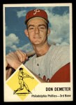 1963 Fleer #53  Don Demeter  Front Thumbnail