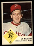 1963 Fleer #54  Art Mahaffey  Front Thumbnail