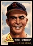 1953 Topps #180  Virgil Stallcup  Front Thumbnail