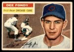 1956 Topps #112 GRY Dee Fondy  Front Thumbnail