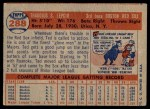 1957 Topps #288  Ted Lepcio  Back Thumbnail