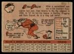 1958 Topps #126  Stan Palys  Back Thumbnail