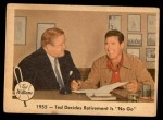 1959 Fleer #55   -  Ted Williams Decides Retirement is No Go Front Thumbnail