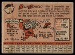 1958 Topps #148  Billy Consolo  Back Thumbnail