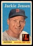 1958 Topps #130  Jackie Jensen  Front Thumbnail