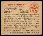1950 Bowman #120  Jocko Thompson  Back Thumbnail