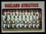 1970 Topps #631   Athletics Team Front Thumbnail