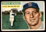 1956 Topps #115 GRY Jackie Jensen  Front Thumbnail