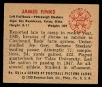 1950 Bowman #128  James Finks  Back Thumbnail
