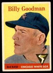 1958 Topps #225  Billy Goodman  Front Thumbnail