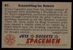 1951 Bowman Jets Rockets and Spacemen #87   Assembling Ice Robots Back Thumbnail