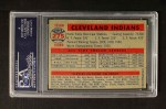 1957 Topps #275   Indians Team Back Thumbnail