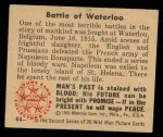 1950 Bowman Wild Man #44   Battle of Waterloo Back Thumbnail