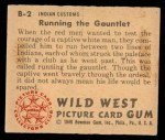 1949 Bowman Wild West #2 B  Running the Gauntlet Back Thumbnail