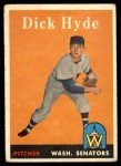 1958 Topps #156  Dick Hyde  Front Thumbnail