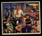 1949 Bowman Wild West #12 F  Run Out of Town Front Thumbnail