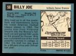 1964 Topps #50  Billy Joe  Back Thumbnail