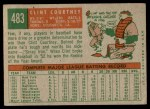 1959 Topps #483  Clint Courtney  Back Thumbnail