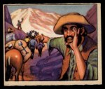1949 Bowman Wild West #21 A  The Gold Rush is On Front Thumbnail