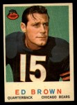 1959 Topps #137  Ed Brown  Front Thumbnail