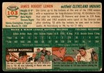 1954 Topps #103  Jim Lemon  Back Thumbnail