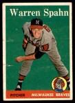 1958 Topps #270  Warren Spahn  Front Thumbnail