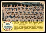 1958 Topps #44   Senators Team Checklist Front Thumbnail
