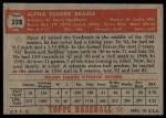 1952 Topps #228  Al Brazle  Back Thumbnail
