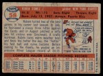 1957 Topps #58  Ruben Gomez  Back Thumbnail